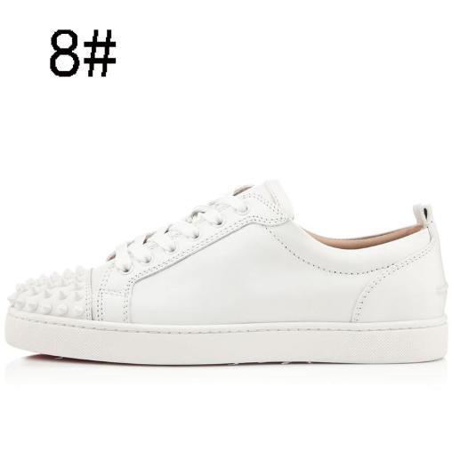 Red Bottom shoew Low Cut Suede spike Sapatos de Luxo Para Homens e Mulheres Sapatos de Festa de Casamento de cristal de couro Sapatilha Apartamentos sapatilhas De Couro sapato