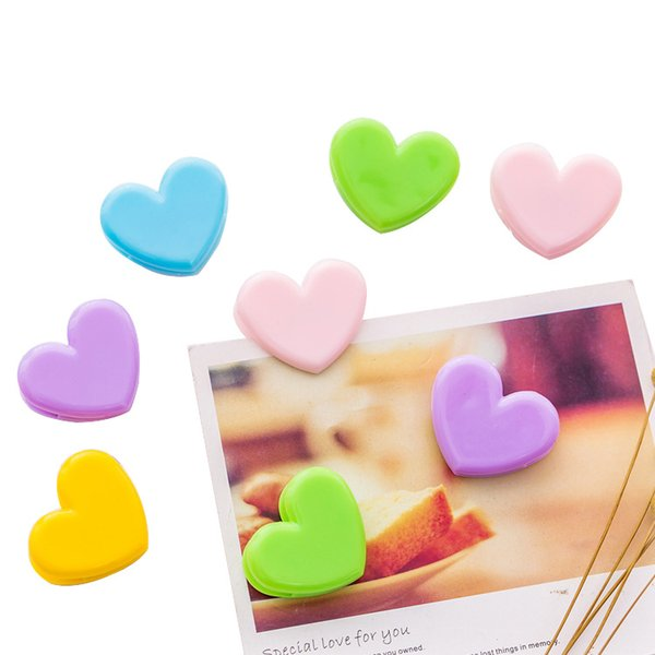 Small colorful heart Clamp Clips Paper Bookmark Memo Clips photo wall decoration Decorative Photo Folder Information Storage Folder