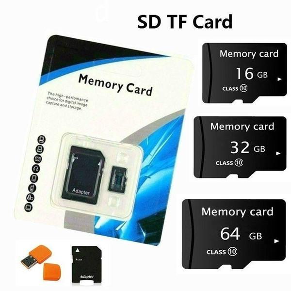 Fabrikpreis 100% WIRKLICHE Echte 32 GB Micro TF Flash-Speicherkarte C10 Kartenadapter Reader Kleinverpackung U354 4 gb-128 gb niedrigerer Preis