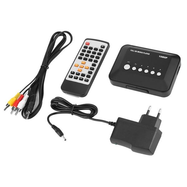 1 Set 1080P Professional Full HD USB HDMI Multi Media Video Player Video MMC RMVB MP3 Uso domestico con telecomando