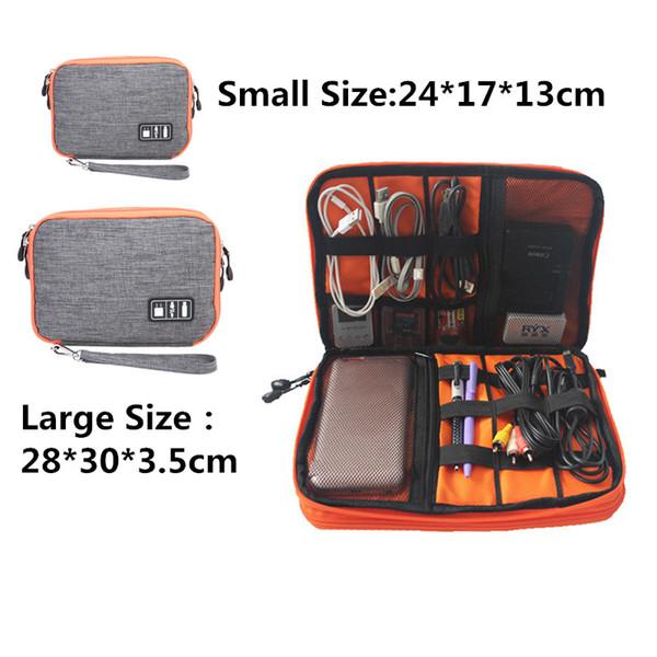 Waterproof Double Layer Cable Storage Bag Electronic Organizer Gadget Travel Bag USB Earphone Case Gigital Organizador