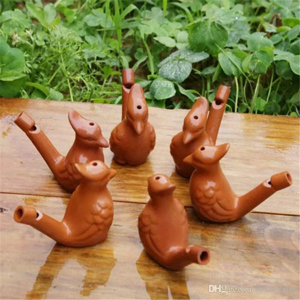 Creative Water Bird Whistle Clay Ceramic Glazed Peacock Birds Bathtime Musical Toys For Kids Home Decoration cc297-304 2018072602