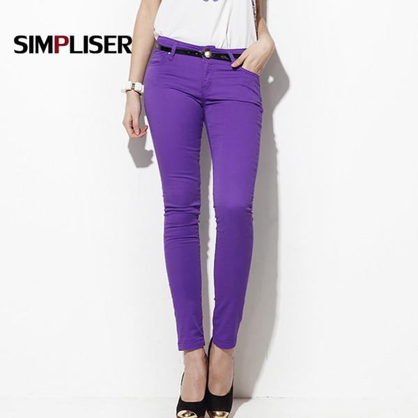 SIMPLISER Woman Jeans Pants Skinny Jeans Leggings Female Trousers 2018 Plus Size 24 Colors Ladies Basic Pencil Pants Black red Y19042901