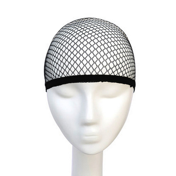 1PC Hairnets Best Quality Mesh Weaving Black Wig Hair Net Making Caps Weaving Wig Cap & Hairnets Opened at One Ends Black