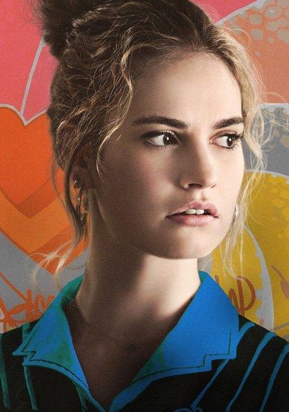BABY DRIVER Movie Film Lily James Debora Actress Glossy Art Silk Print Poster 24x36inch(60x90cm)