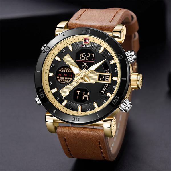 NAVIFORCE Wristwatches Men Watch  Designer Watches Men Waterproof Electronic Led Sport Man Watch Men's Wrist