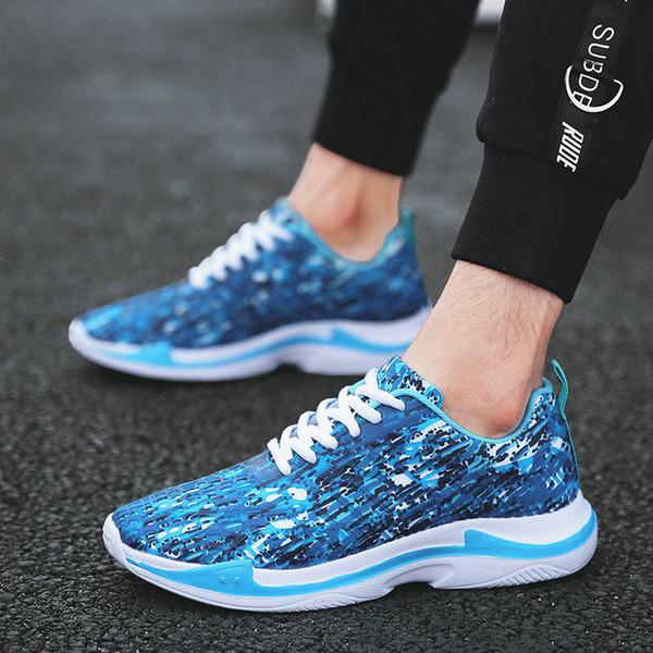 2019 Yeni Bahar Sonbahar sneaker Ayakkabı Erkekler Moda Düşük Erkekler Ayakkabı Konfor Işık Dantel up Rahat E31-48