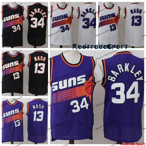 Phoenix Suns #34 Charles Barkley Basketball Black Jersey Size XXL S