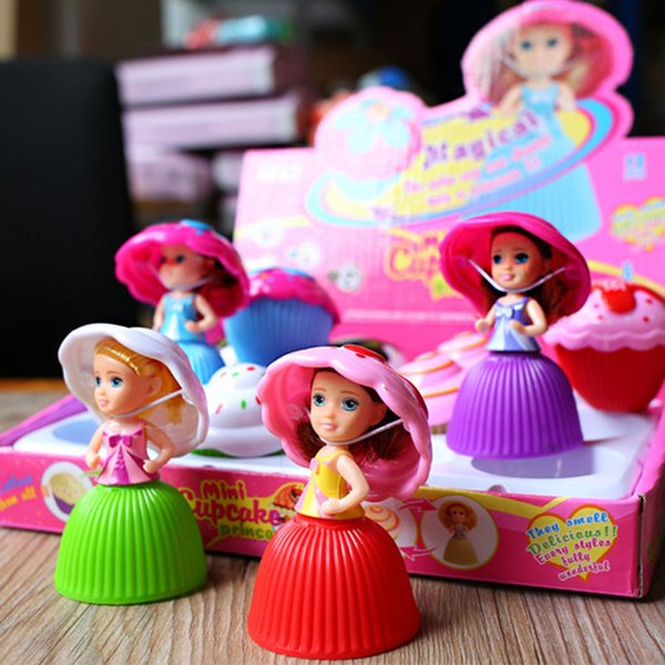 Cute Cake Doll Toys for Girls Children Mini Lol Wonder Cartoon Lovely Cupcake Princess Dolls Toy Transformed Scented Beautiful