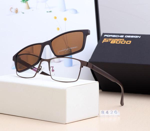 2019 Fashion Porsches 8426 Sonnenbrillen Senior Design 54mm Männer Frauen RAY Brillen Bans Metallrahmen UV400 Polarized Lens Driving Sonnenbrille
