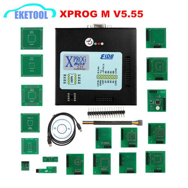XPROG 5.55 Black Metal Box ECU Programming Auto Chip Tuning XPROG-M V5.55 XPROG M Better Than Xprog 5.0 Stable Function