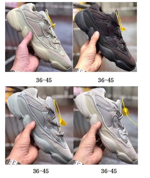 Desert Rat 500 Бег известных брендов Обувь Moon Yellow Black Blush 2019 Дизайнерские Мужские Женские Кроссовки Кроссовки Коровья Кожа 3M Светоотражающие L15