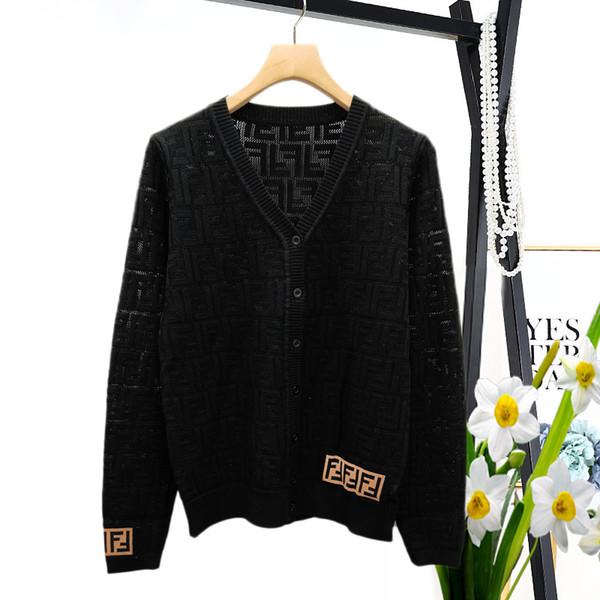 2019 Frühling Womens Designer T Shirts Dark Loch Perforation Brief Hohl Pullover Kurzarm Ice Silk Card Cardigan Pullover Frauen Kleidung