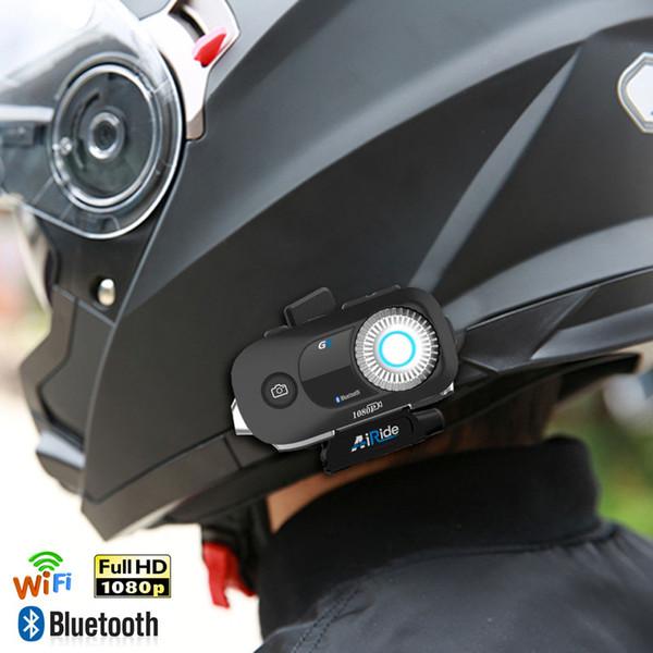 Bluetooth Motocicleta Gravador de Câmera Câmera DVR HD 1080 P Capacete de Moto Traço de Vídeo Cam DVR Autocycle Action Digital Recorder car