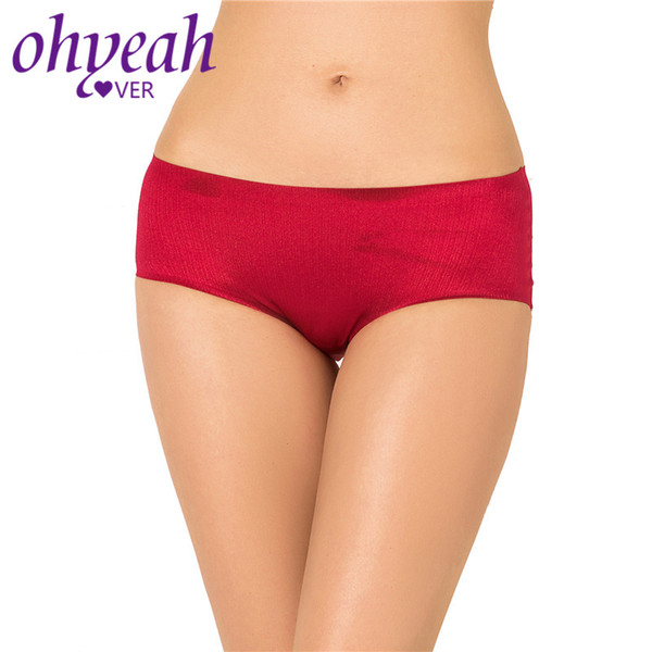 Ohyeahlover Ladies Underwear Seamless Culotte Pour Femmes Silky Doux Culotte Femme Coton Entrejambe Slips Shimny Intimates PM5135