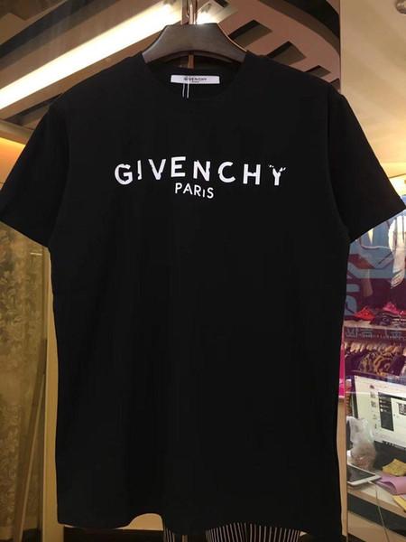 20SS vendimia caliente Europa Luxurys París bordado contraste tapas de la camiseta para hombre de las camisetas ocasionales Hombres Mujeres ropa de algodón tee JSZC9069