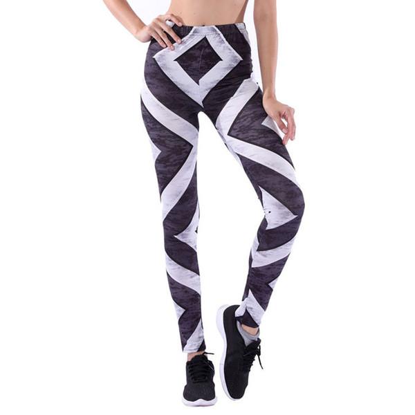 ISHOWTIENDA Women Fitness Leggings 2019 3D Print Workout Leggings Women Casual Workout Femme Fitness Black