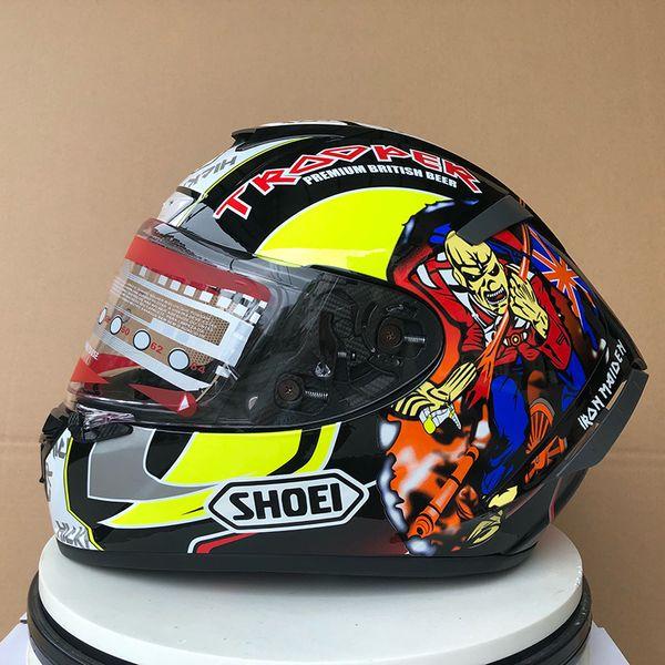 top popular Shoei X14 marquez HICKMAN HELMET Full Face Motorcycle Helmet(Not- original-Helmet) ) 2021