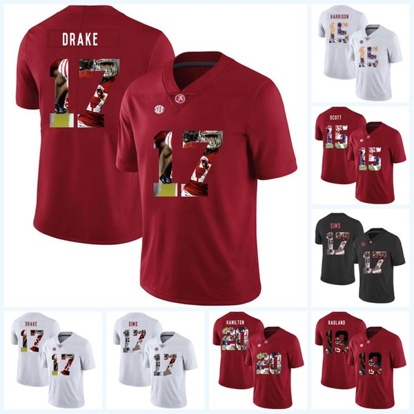 low priced e99dd f39e0 2019 Mens Alabama Crimson Tide 17 Kenyan Drake 17 Cam Sims 15 JK Scott 19  Reggie Ragland 20 Shaun Dion Hamilton College Football Jerseys From ...