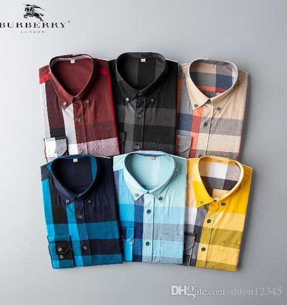 2019 Marca de Negócios dos homens Camisa Casual mens manga comprida listrada slim fit camisa masculina social camisas masculinas nova moda camisa # DF5