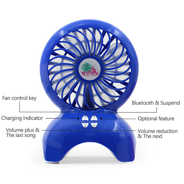 Bluetooth Speaeker Fan Portable Wireless Speakers TF card Outdoor Mini Fan Stereo Music Cooler for iP 7 8 X SamsungS8 Any Phone