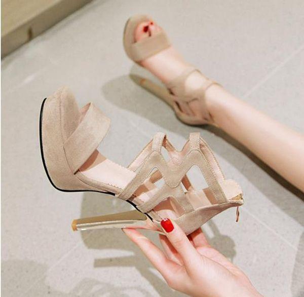 dimensioni da 33 a 42 43 camoscio beige croce tacchi strappy alti Sandali gladiatore delle donne dei sandali delle donne di lusso stilista
