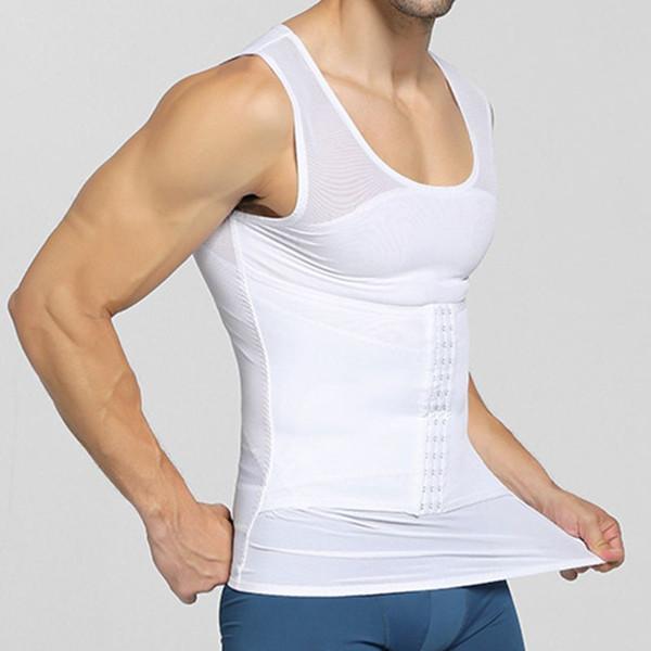 Мужские рубашки сжатия для похудения Body Shaper жилет без рукавов майка Корректирующее белье G99D
