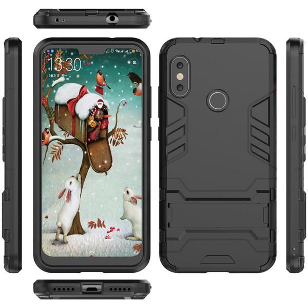 Für xiaomi mi a2 lite case 5,84 zoll roboter silikon gummi harte rückseite phone cover für xiaomi mi a2 lite cover redmi 6 pro case