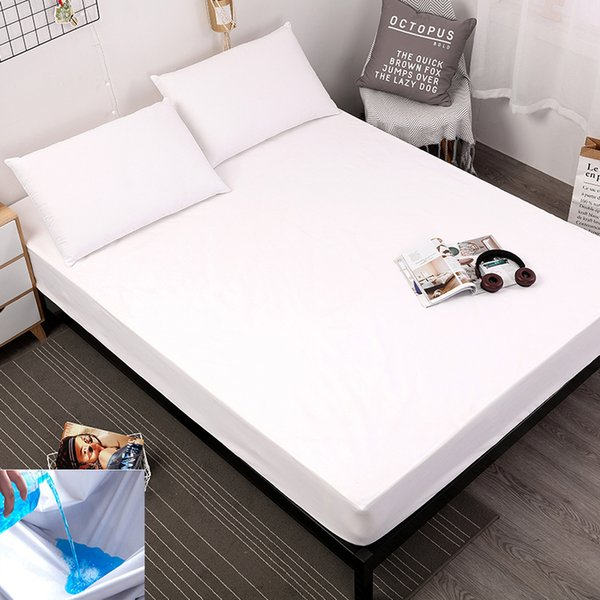 New product Printing Bed Mattress Cover Waterproof Mattress Protector Pad Fitted Sheet Separated Water Bed Linens with Elastic