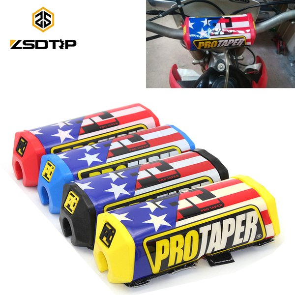 best selling ZSDTRP Pro Taper Motocross Dirt Bike Pit Bike Stripes Handlebar Bar Pad Fat Grips Chest Protector Cross Bar fit 1-1 8 Handle