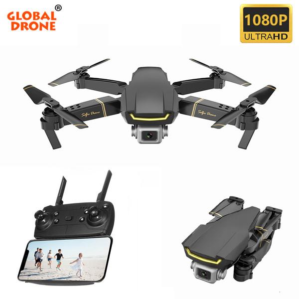 Global Drone GW89 Quadrocopter RC Helicopter Foldable WIFI FPV Dron Mini Drone X Pro RTF Drones with HD 1080P Camera VS E58 E520 T191109