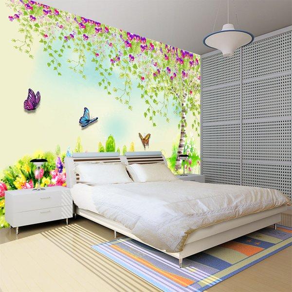 Acheter Grande 3d Bosse Stéréo Nature Verdoyante Paysage Non Tissé Peinture Murale Papier Peint Chambre Protège Papier Peint Chambre Enfant Canapé Tv
