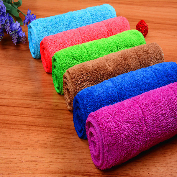 top popular Free Shipping Cleaning Towel Wash Towel Polishing Drying Cloths size 20x30cm 6 colors 2021