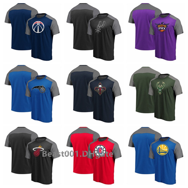 Men Women Youth Wizards Spurs Suns Magic Pelican Heats LA Clippers Warriors Fanatics Branded Iconic Blocked T-Shirt