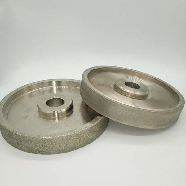 top popular 80 180 240 600 800 1000 Grit Grinding Wheel Diamond Diameter 6 inch 150mm High Speed Steel For Metal stone Grinding Power Tool 2021