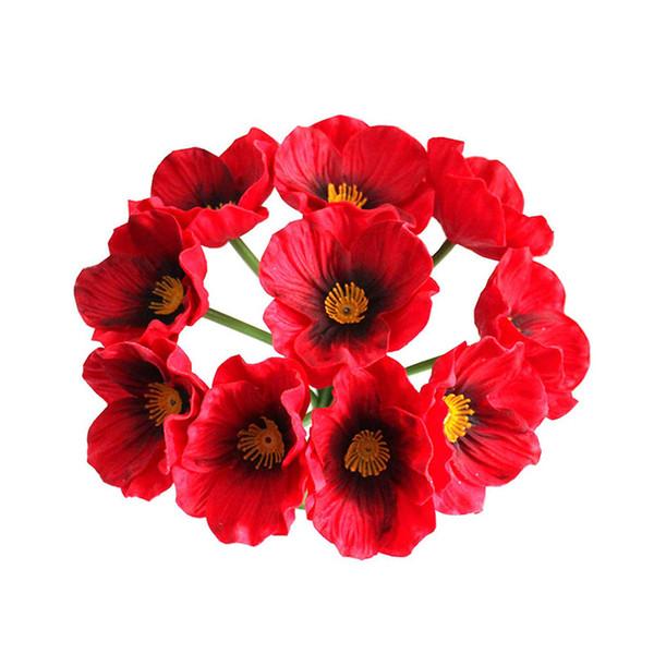 Red Poppy fiore artificiale