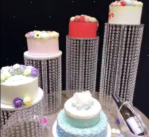 Best Romantic Crystal Rhinestones Wedding Cake Stand Plates Display Tower Gorgeous Party Birthday Decorations 3pcs/lot Cake Shelf AL2572