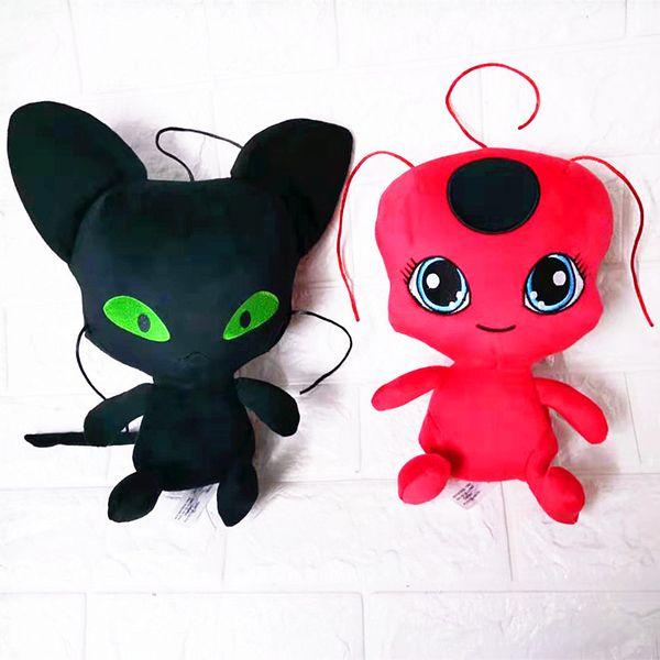 Milagrosa mariquita juguetes de peluche de 25 cm de dibujos animados animales de peluche de buena calidad suave de la muñeca llavero colgante juguetes de peluche niños