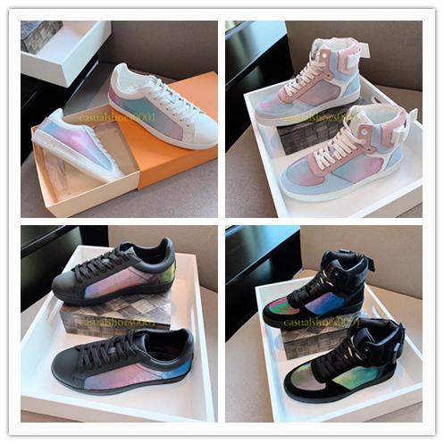 2019 Lüksemburg Lüks Tasarımcı Erkek Kadın Sneaker Rahat Ayakkabılar Düşük yüksek Paris Marka Monogram Renkli Ayakkabı Yürüyüş Platformu ayakkabı boyutu 38-44