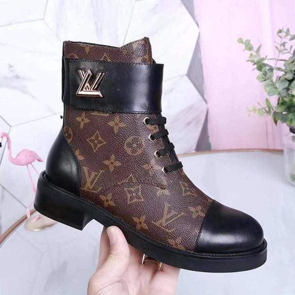 Moda LV di lussoWomens Designer Martin stivali di lusso scarpe fibbia in pelle di alta qualità genuina dei bottini Womens Shoes Modo Tipo Bottes