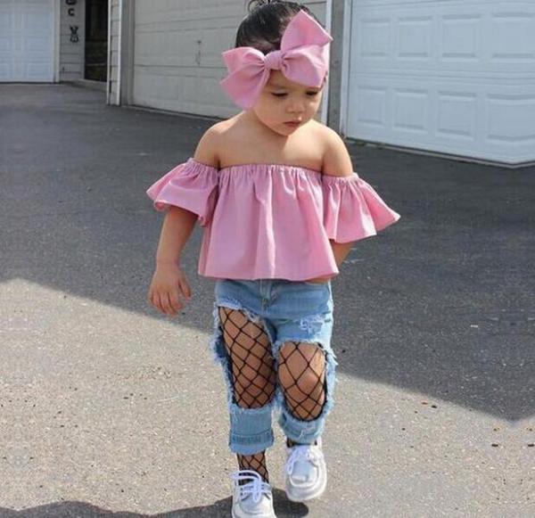 Nouveau INS Bébés garçons filles Lettre Ensembles TOPT-shirt + Pantalons enfants tout-petits bébé manches Courtes été Costumes Tenues Vêtements LY08