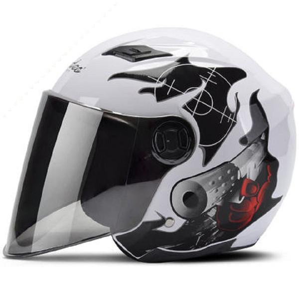 Мотоциклетный шлем 3/4 Open Face Helmet Scooter Каско Мото Мотоцикл Capacete Флип Up Casque мотокроссу