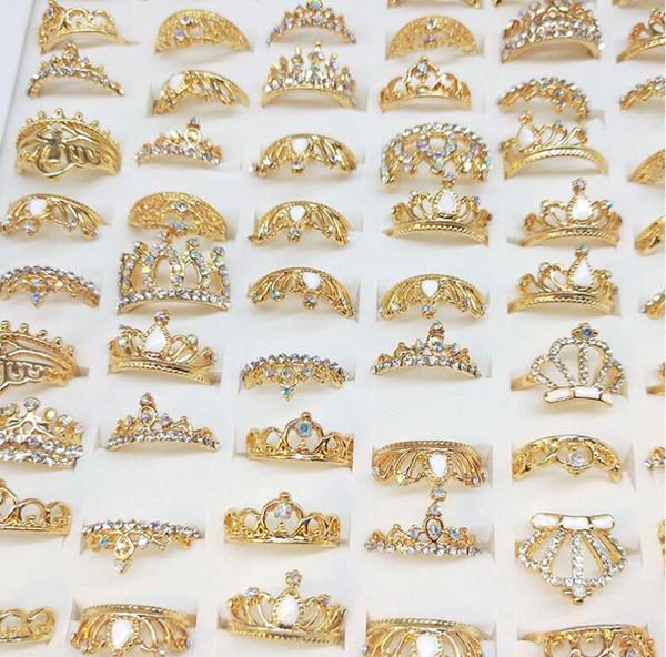 Anel Designer Anel Senhora Jóias de luxo Jóias de cristal Anel Misto Atacado mais barato 090902