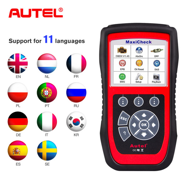 100% Autel MaxiCheck Pro OBD2 Scanner Car Diagnostic Tool EPB/ABS/SRS/SAS/Airbag/Oil Service Reset/BMS/DPF Special function