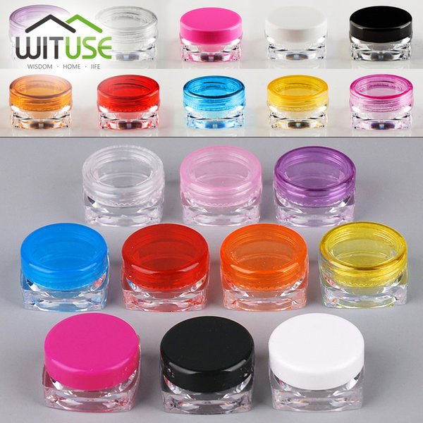 100pcs/Lot 5g Plastic Cream Jar Empty Container Sample Bottle Small Vial Cosmetic Cream Jar Facial Packaging Promotion Cosmetic