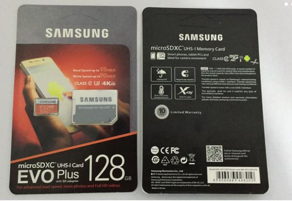 32GB / 64GB / 128GB / 256GB Samsung originale EVO + Più Micro SD card U3 / smartphone TF card C10 / Tablet PC di stoccaggio della carta 95MB / S