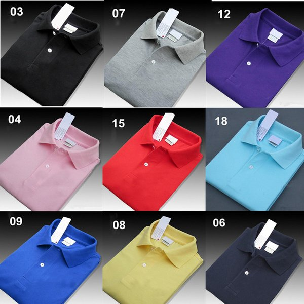 Wholesale 21 Colors Men Fashion Professional Designer Polo Shirt Embroidery Polos T Shirts Trend Shirt Poloshirt Man High Street Tops G69