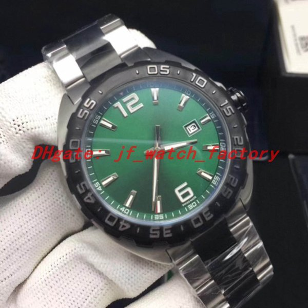 Two-tone steel strap (green dial)