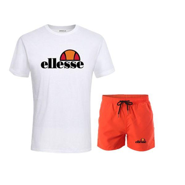 Running Sport Suits Hombre Fitness Manga corta + Pantalones cortos Conjunto Ropa deportiva Entrenamiento de baloncesto GYM Jogging Suit for Mens