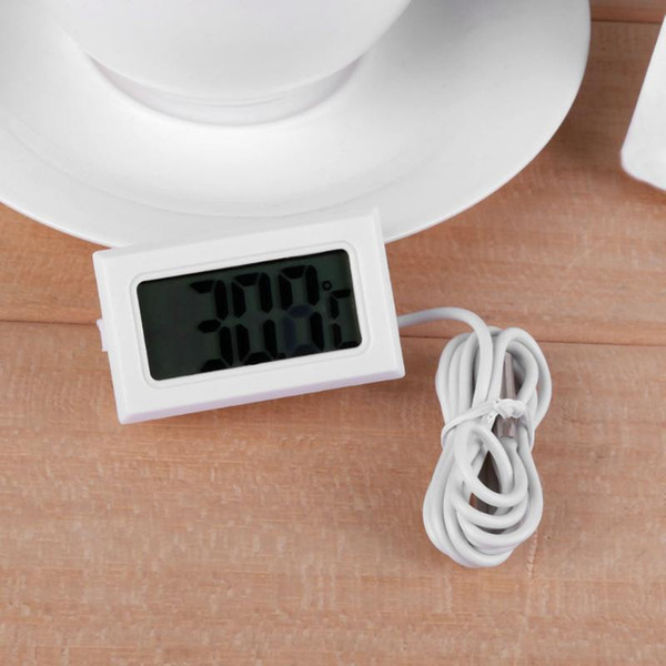 Electronic Digital Thermometer Temperature Meter Fish Tank Water Temperature Gauge Advanced Refrigerator Thermometer with Waterproof
